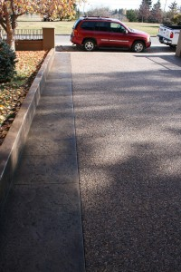 Concrete stamping for driveways